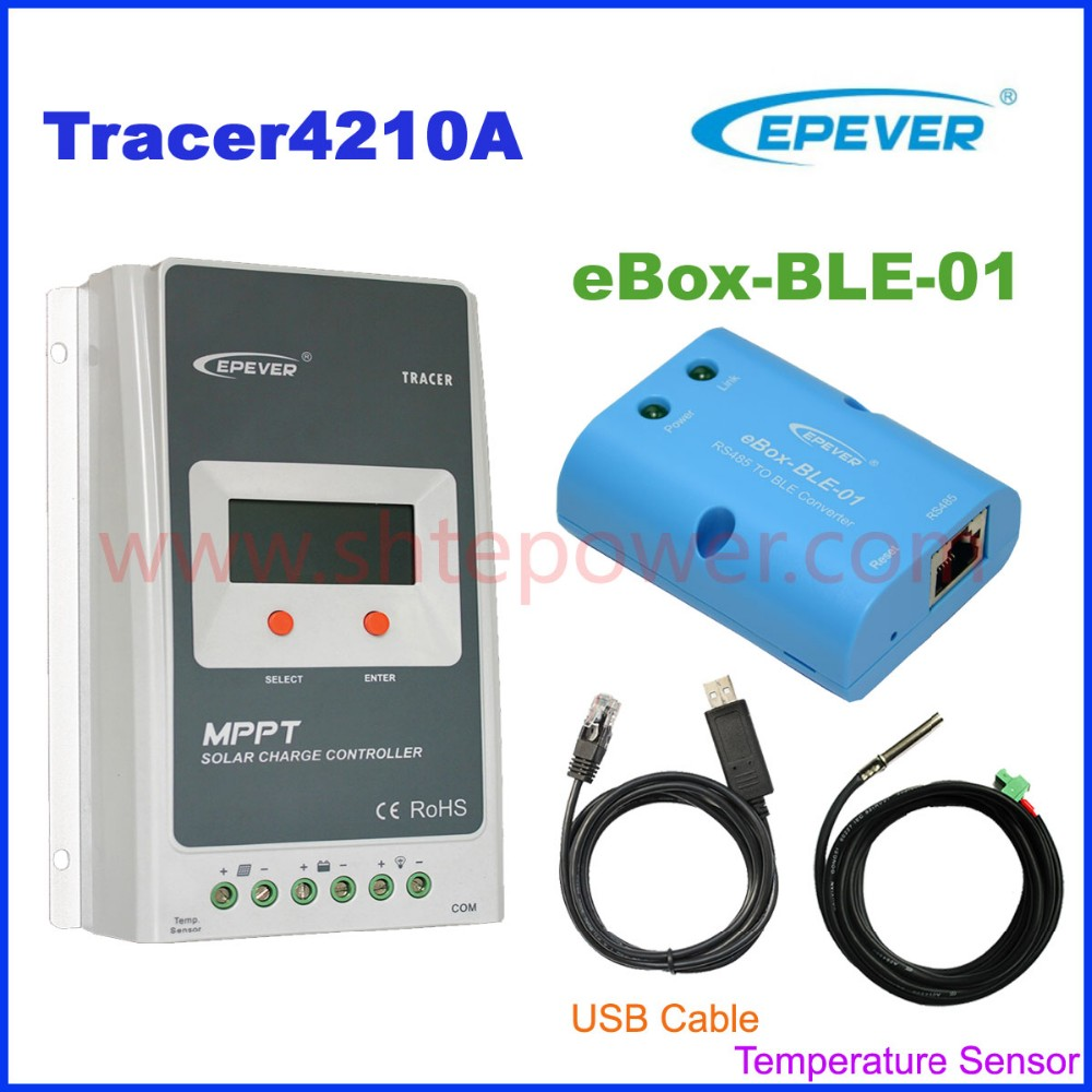 Bluetooth function for Tracer MPPT solar charge controller 40a solar panel charger 12v 24v auto work with USB and Temp Sensor micro inverters on grid tie with mppt function 600w home solar system dc22 50v input to ac output for countries standard use