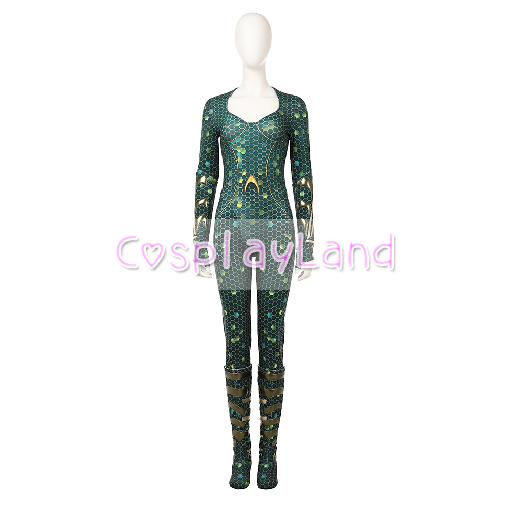 Movie Aquaman Mera Cosplay Costume Carnival Halloween Costume for Adult Women Jumpsuit Aquaman 39 s Wife Mera Costume Custom made in Movie amp TV costumes from Novelty amp Special Use