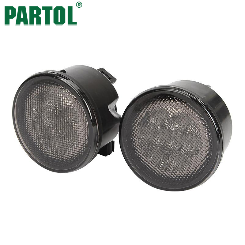 Partol Front Turn Signal Lights Grille LED Driving Lights 12V for Jeep Wrangler 2007 2008 2009 2010 2011 2012 2013 2014 2015 eemrke for toyota voxy 2007 2008 2009 2010 2011 2012 2013 side rear view mirror lights led drl turn signals