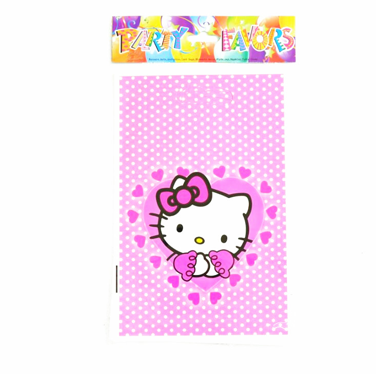 f913cda3f0fb 10pcs lot Hello Kitty gift Bags supplies baby shower Candy Plastic  Packaging Bags