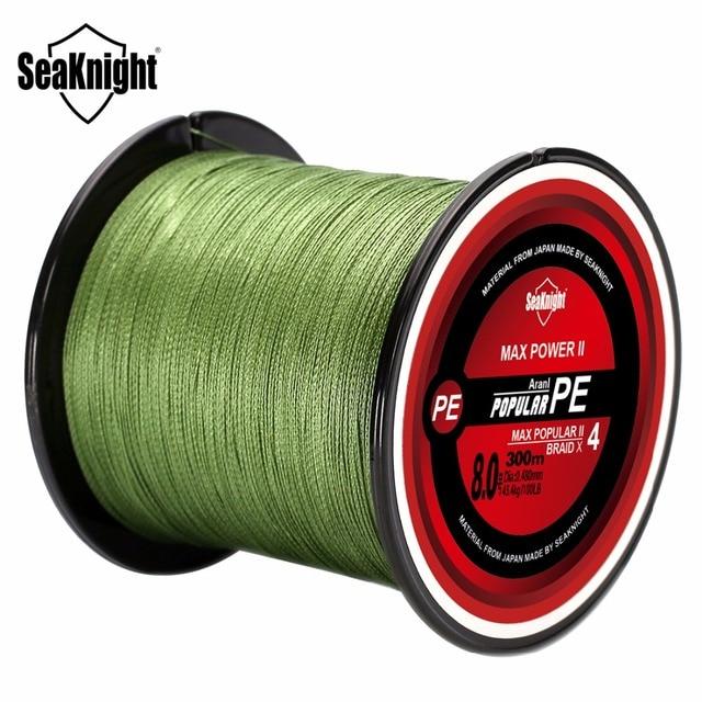 SeaKnight Brand TriPoseidon Series 300M 330Yards PE Braided Fishing Line 4 stands 8LB 10LB 20LB 60LB Multifilament Fishing Line