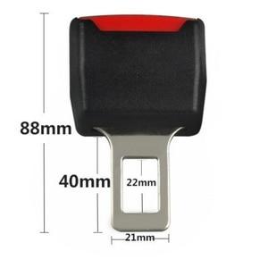 Image 5 - 2 צבע 1pc רכב חגורת בטיחות קליפ Extender בטיחות חגורת בטיחות נעילת אבזם תקע עבה להכניס שקע שחור/בז
