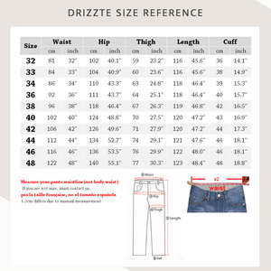 Image 2 - Drizzte สูงเอวหลวมตรง Mens ยืดกางเกงยีนส์กางเกงยีนส์สีฟ้ากางเกงแบรนด์ใหญ่และสูงกางเกงยีนส์สำหรับ big Man