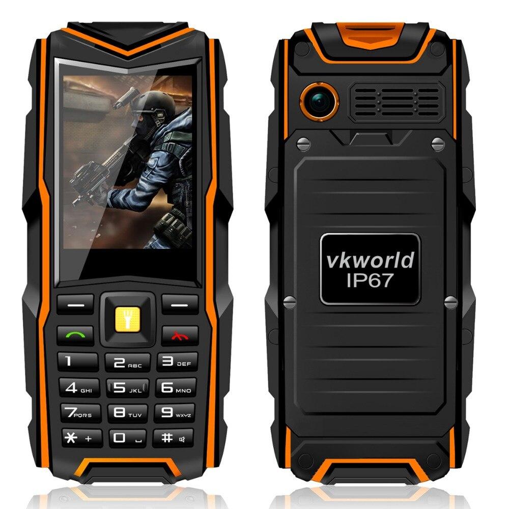 VKworld V3 IP67 Waterproof Shockproof Mobile Phone Power Bank big battery 5200 mAh elder phone