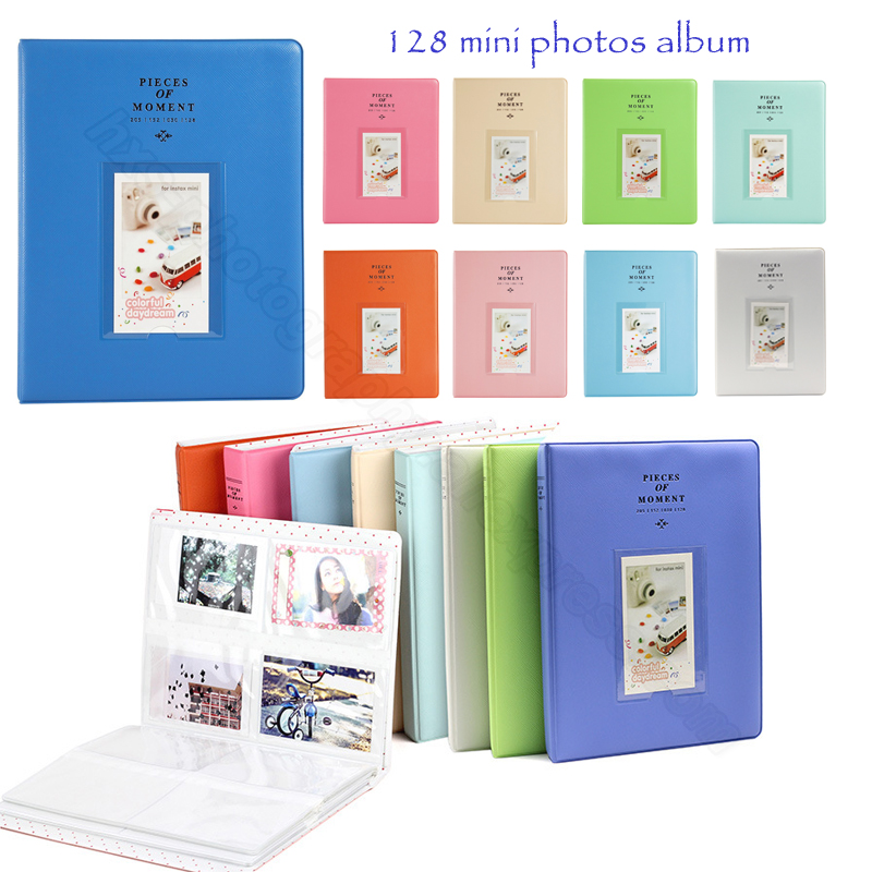 128 Photos Album for Fujifilm Instax Mini 8 8+ 9 70 7s 25 26 50s 90 Film, Instax Share SP-1 SP-2, Polaroid PIC-300 Z2300 Film fujifilm glossy 10 2pk для instax mini 8 7s 25 50s 90 polaroid 300 instant 16386016