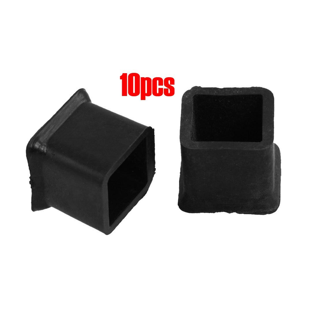 FJS!New 10Pcs Furniture Chair Table Leg Rubber Foot Covers Protectors 20mm x 20mm