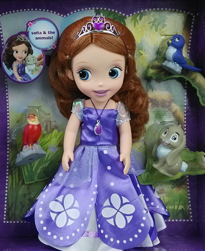 hot princess Sofia with animal friends doll toy Sofia the first gift for girl birthday gift 12pcs lot new sofia the first pvc figure toys princess sofia pvc doll brithday gift for children free shipping