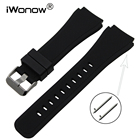 Quick Release Silicone Rubber Watchband 21mm 22mm for Armani Timex CK DW Watch Band Wrist Strap Bracelet Black Brown Blue Red