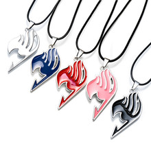 Good Quality 1PCS Fairy Tail Guild Logo Alloy Necklace 5 Color For Choose Anime Toys Action Figure Pendant Necklace