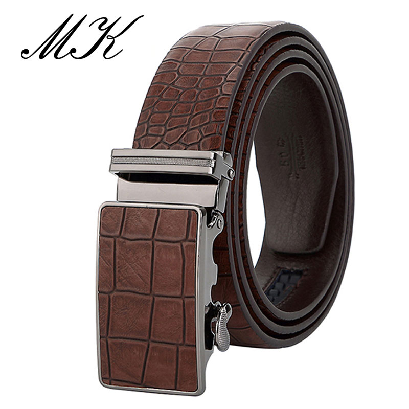 MaiKun Men's Automatic Belts For Men Leather Belt For Business Casual Crocodile Pattern Belt