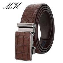 MaiKun Mens Automatic Belts for Men Leather Belt Business Casual Crocodile Pattern belt