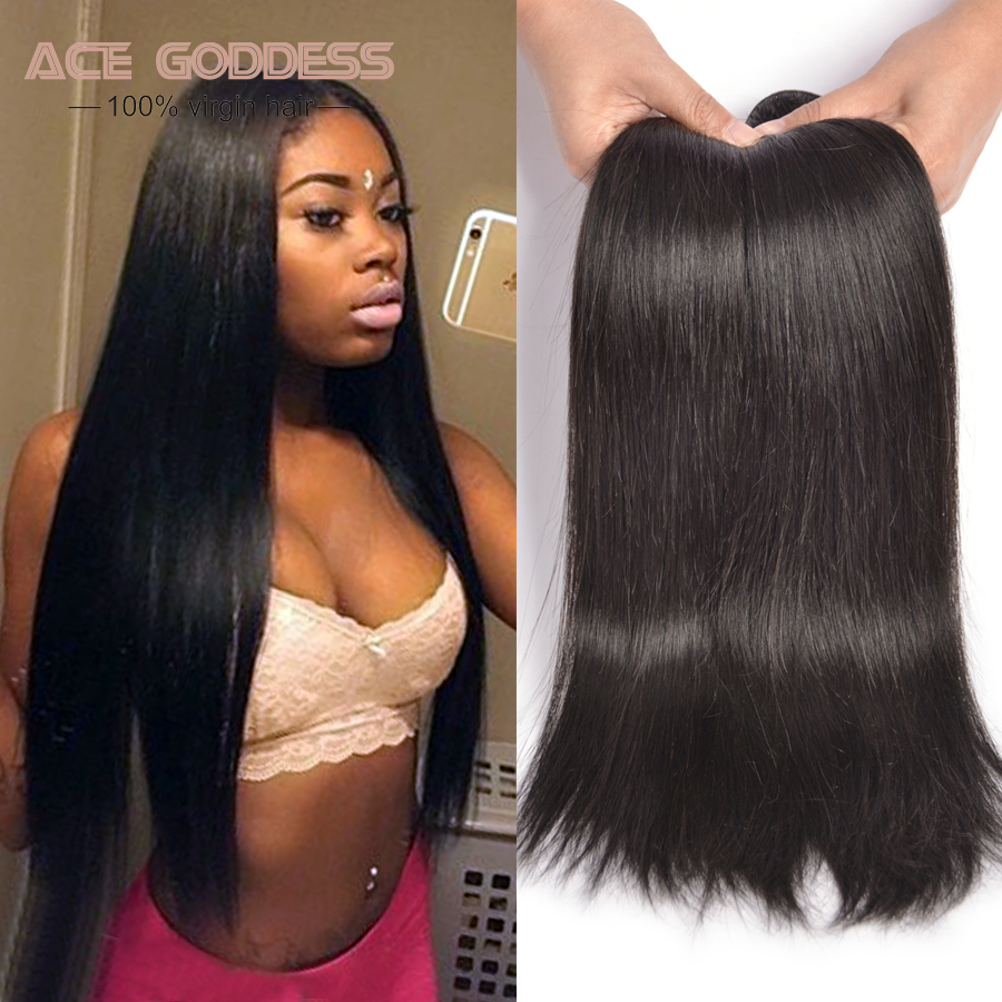 ACE Hair Products Malaysian straight Malaysian Virgin Hair 4 Bundles Cheap Straight Human Hair Bundles Straight Human Hair