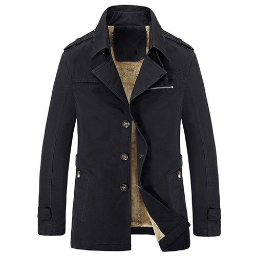 Winter Trench Coat Thick...
