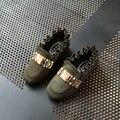 Fashion Girls Shoes 2017 New Spring 4~10Yrs Korean Metal Kids Princess Shoes for Children Single Shoe size 26~36