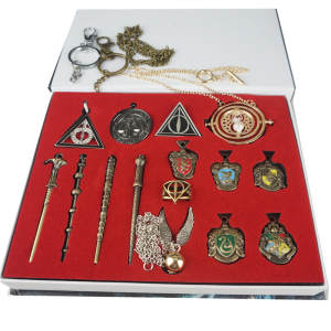 Necklace Pendants Turner Wands Hogwarts Time Metal Golden-Snitch 15pcs/potter 13-14 Hallows