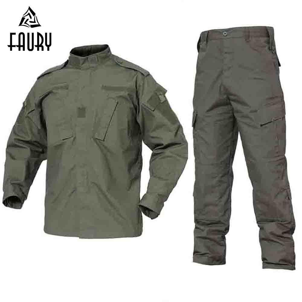2018 armée vert Camouflage extérieur uniforme hommes vêtements tactique militaire uniforme Combat chasse hommes veste + pantalon chasse vêtements
