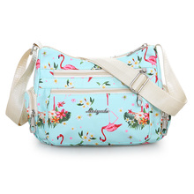 цена на Fresh Shoulder Bag Cute Waterproof Nylon Floral Messenger Bag Rural style Fashion Crossbody Bag Cloth Zippers Hobos for Women