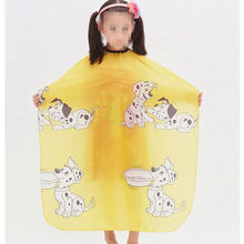 New Cartoon Dog Printed Kid Hairdressing Wrap Cape Waterproof Hair Salon Barber Shop Hair Styling Cut Haircut Cover Cloth Wrap(China)