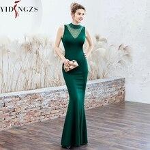 YIDINGZS סאטן שמלת ערב אלגנטי ואגלי ארוך ערב מסיבת שמלות YD16102