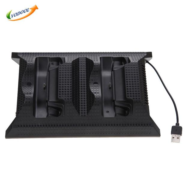 4 in 1 Multifunction Charging Dock Station Cooling Fan External Cooler Dual Charger for Xbox One Controllers S Game Console