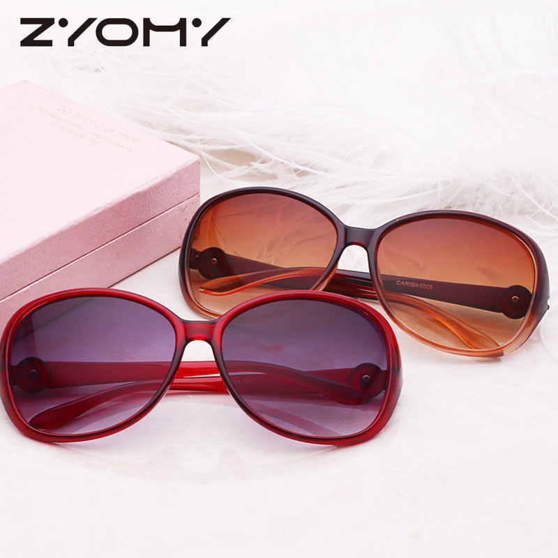 Pria Kacamata Perempuan Oculos De Sol Retro Kacamata Merek Desainer Mengemudi Kacamata Bingkai Besar Kebesaran Vintage Toad Lensa UV400