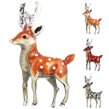 Fashion sika deer antler brooch for women girls unisex cute small cartoon animal lable pin bag shirt Brooch Pin Coat Accessories creativity fashion animal alloy coat cartoon brooch