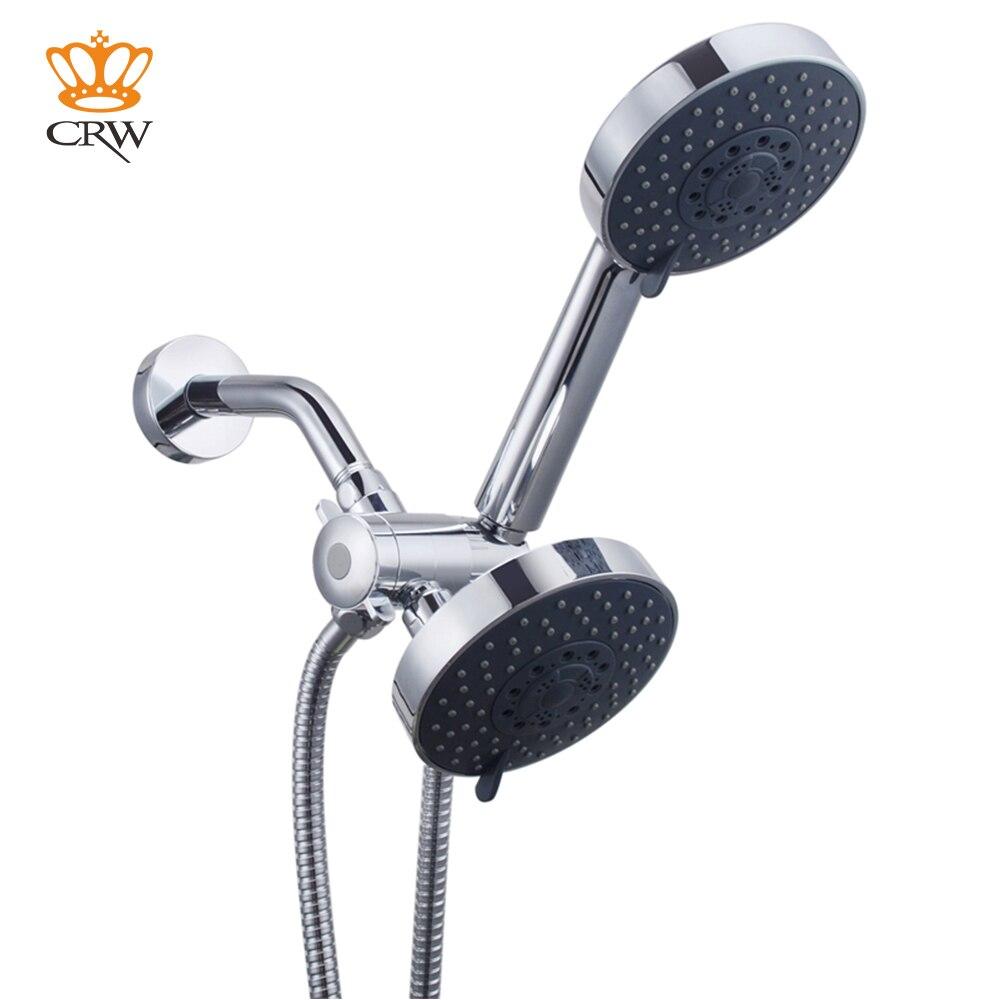 Pommeau de douche CRW Combo 3 Mode Chrome salle de bain haute pression économie d'eau pommeau de douche à main ensemble de douche Combo 00303