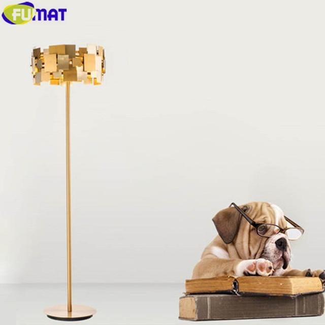FUMAT Gold Edelstahl Boden Lampen Moderne Kunst Stehlampe Schlafzimmer Villa Wohnzimmer Stehleuchte Verformbaren