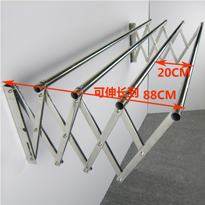 ... Free Shipping 304 Stainless Steel Outdoor Terrace Bar Towel Rack  Retractable Clothesline Hanging Clothes Drying Racks ...