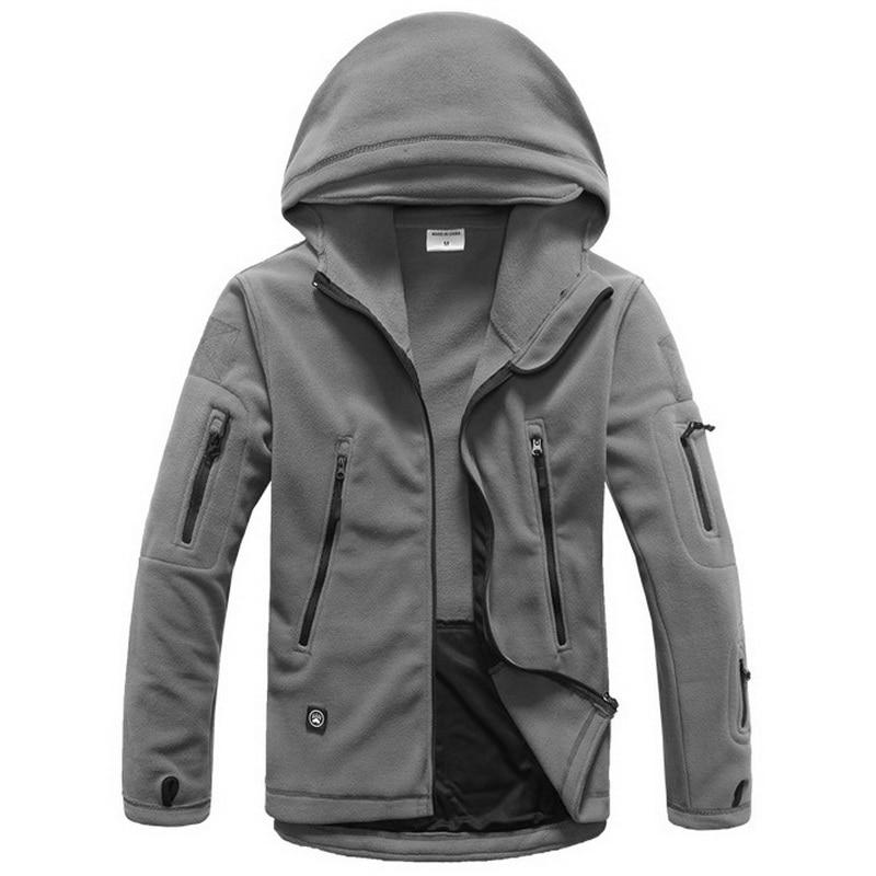 Chaqueta de paño grueso y suave militar Softshell Fleece con capucha - Ropa de hombre - foto 6