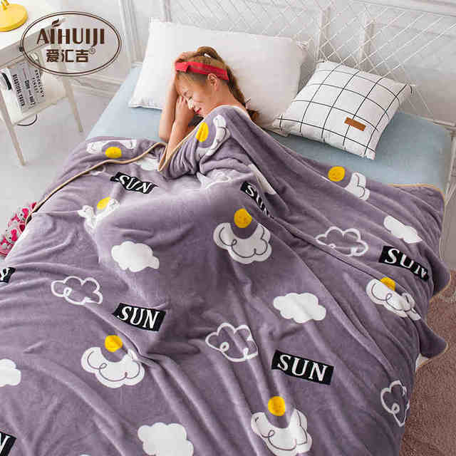 120x100 120X200cm 150x200 180x200 200x230cm Coral fleece blanket thick  flannel bed sheet throw blanket bedspread large blanket 78f3b2952