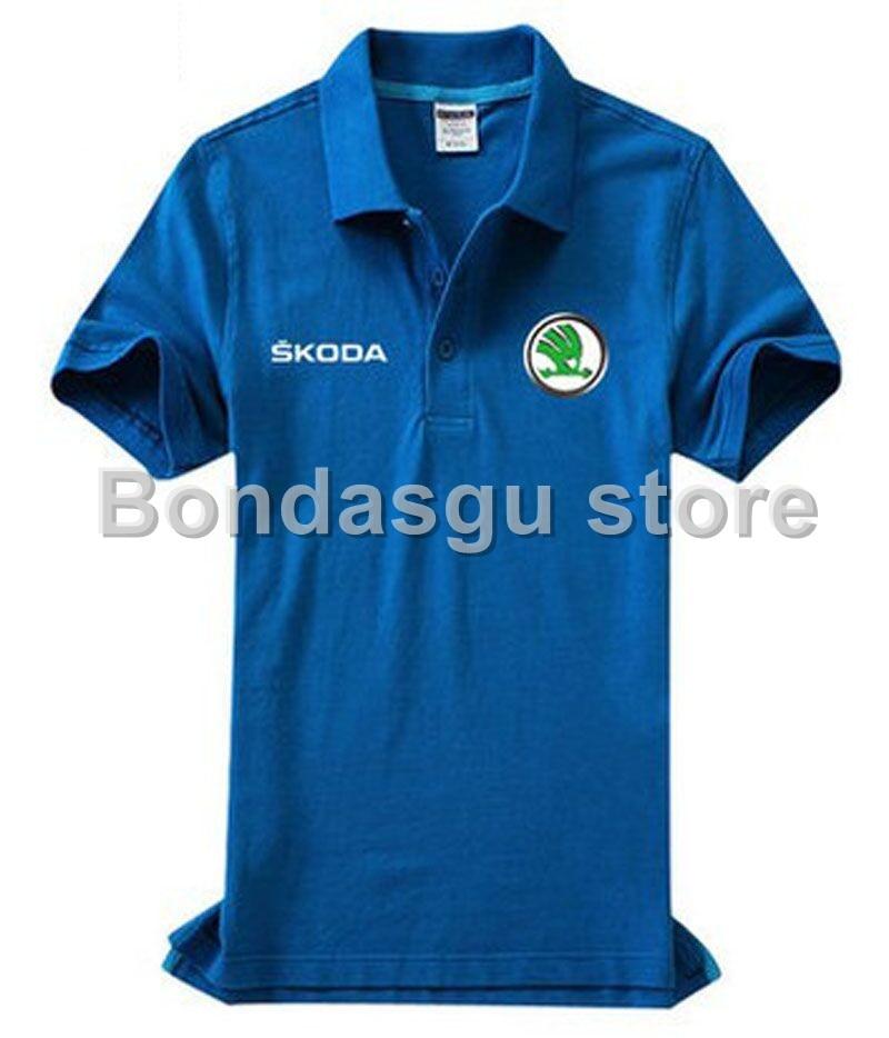 Skoda   Polo   Shirt Desiger   Polos   Cotton Short Sleeve shirt clothes