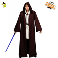 QLQ Men's Jedi Knight Costume Halloween Party Cosplay Hot Movie Jedi Knight Fancy Dress Imitation Knight Costuems For Adults