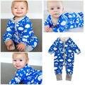 Infantil Bebê recém-nascido Meninos Bodysuit One-piece Playsuit Roupas Roupas 0-2 T
