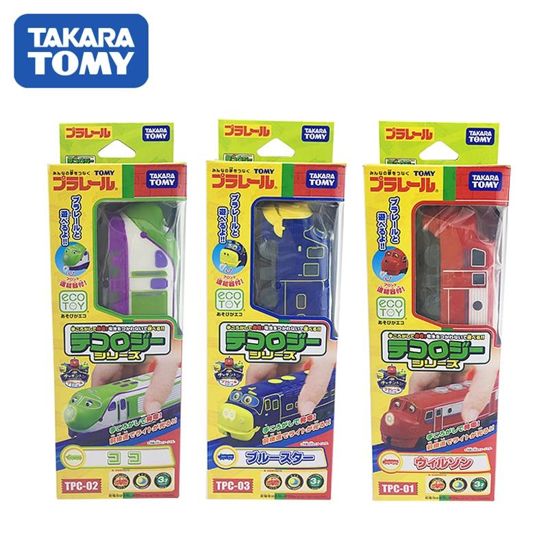 Takara Tomy Chuggington Plarail tea Gin tons Plarail leverage Biology Series Wilson KOKO Brewster 3pcs Toy