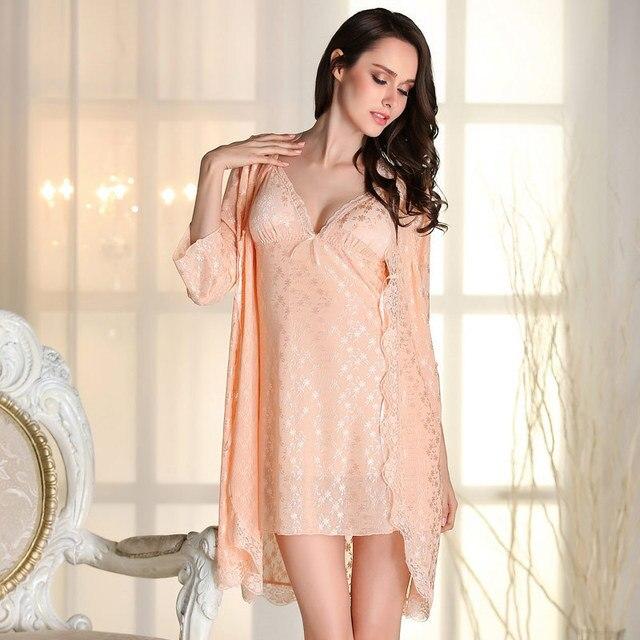 Новое Прибытие Кружева Лета женщин Ночное Одеяние Устанавливает Бесплатная Доставка 2016 Лучшие Продажи Халат Ночная Рубашка Устанавливает Пижамы Искушение