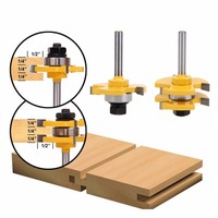 Tongue Router Bit Groove Router Bit Set 3 4 Stock 1 4 Shank 3 Teeth T