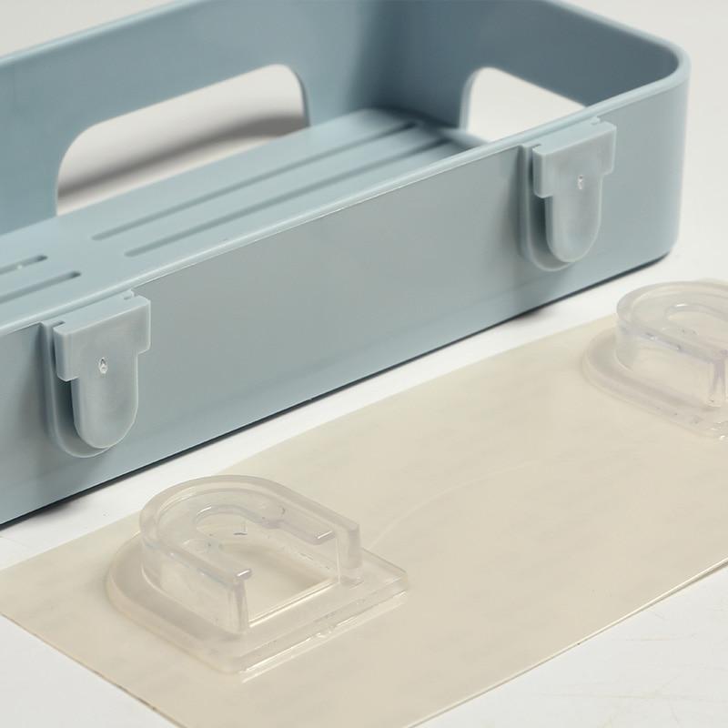 Wall Mounted Soap Dish Box Self-adhesive Suction Kitchen Bathroom Storage Tools