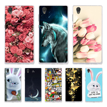 For Sony Xperia L1 Case Cover 3D Cute Flower Bag For Sony Xperia L1 G3311 G3312 G3313 Case Soft Silicone For Sony L1 Phone Cases смартфон sony g3312 xperia l1 white белый