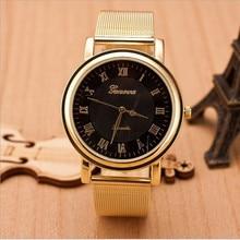 2017 Supremo homens da moda cinto de Malha de aço inoxidável Quartzo Relógio De Pulso marca top relógio de negócios de luxo relógio Relogio feminino