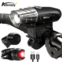 USB Aufladbare Fahrrad Licht Fahrrad Lampe LED Taschenlampe Vorder LED Scheinwerfer Für nacht reiten  angeln  jagd  camping  etc.