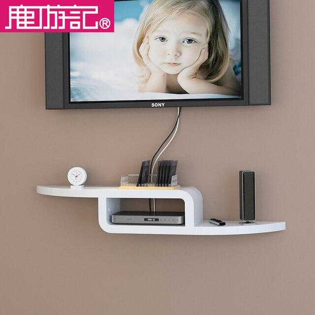 Nice Deer Travel Wood Bedroom TV Set Top Rack Shelf Wall Shelf Decorative Wall  Backdrop Wall