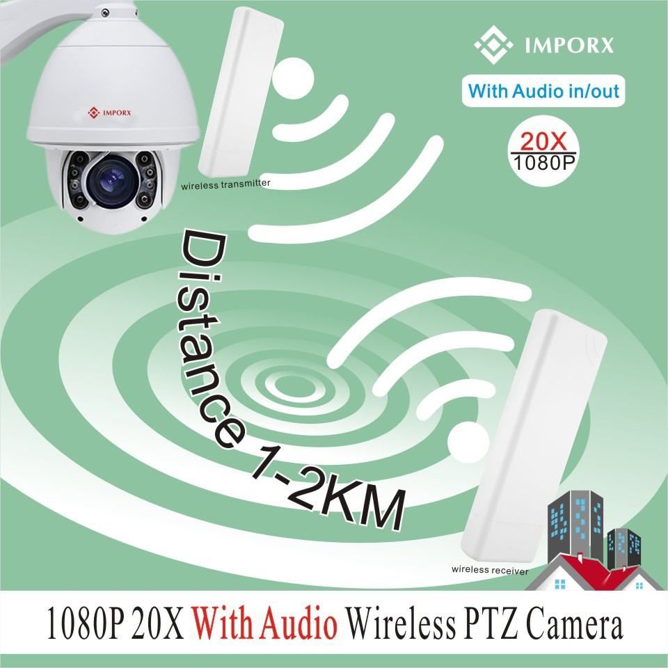 YUNCH 20X zoom 1080P auto tracking 2KM wireless wifi infrared ptz camera support phone view audio&alarm with 2 wireless bridges 30x zoom camera ptz wireless onvif 960p auto tracking wireless wifi infrared ip camera support audio