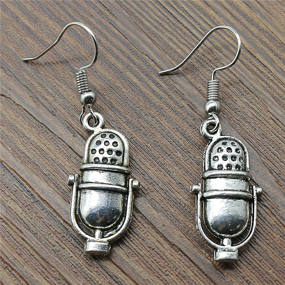 Microphone Drop Earrings Fashion Microphone Earings Fashion Jewelry Microphone Earrings For Women Dropship Suppliers earrings