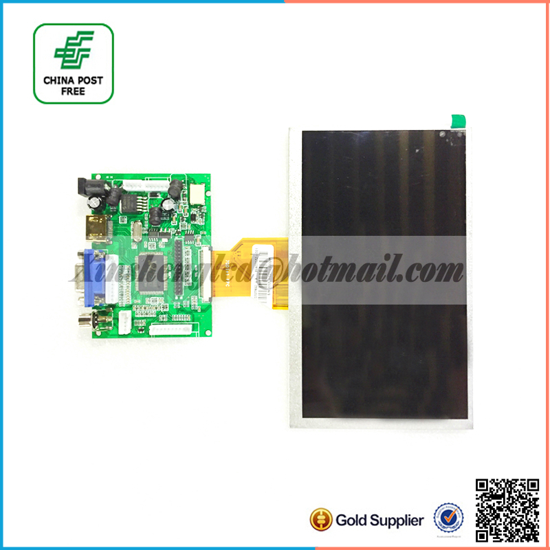 7 inch Raspberry Pi IPS LCD Simple version With HDMI VGA AV Screen Display Module For Pcduino Banana Pi 800x480