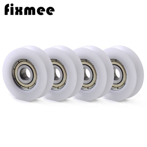 Fixmee 10 pcs U Nylon plastic Embedded 608 Groove Ball Bearings 8*30*10mm Guide Pulley 1 piece bu3328 6 6 33 27 5 29 5 mm z25 guide rail u groove plastic roller embedded dual bearing