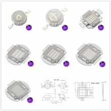 UV Purple LED Ultraviolet Bulbs Lamp Chips 365nm 375nm 380nm 385nm 395nm 400nm 405nm 3W 5W 10W 20W 30W 50W 100W High Power Light