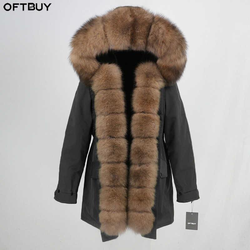 Waterproof Women Long Parka Winter Jacket Women Real Fur Coat Natural Fox Fur Collar Hood Warm Detachable Streetwear Luxury New