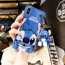 3D cute cartoon Stitch Bear Winnie Pooh bracket silicone phone case for iphone 7 8 6 S X XR XS MAX for samsung S8 S9 Note 8 9(China)