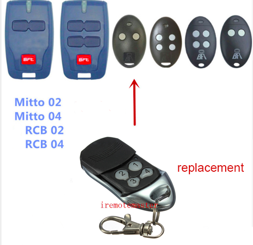 High quality! BFT MITTO2 MITTO4 remote control raplacement 433mhz rolling code DHL free shipping